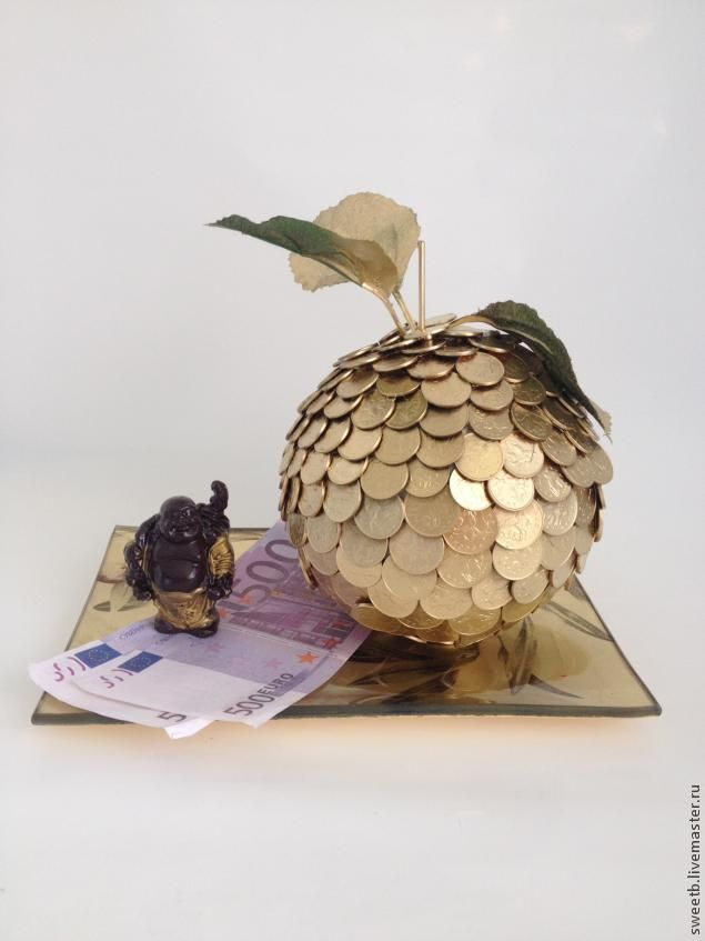 """Сувенир в подарок """"Золотое яблочко"""" своими руками - Ярмарка Мастеров - ручная работа, handmade"""