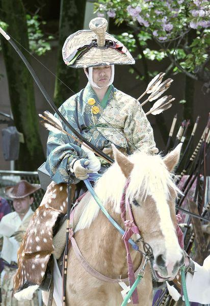 yabusame ou tir à l'arc à cheval