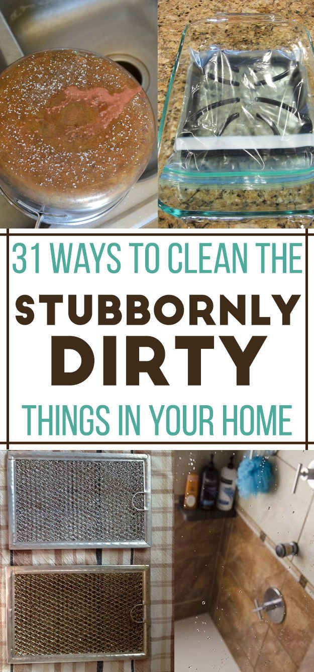 31 Ways To Clean All The Stubbornly Dirty Things In Your Home. I'm seriously excited to try everything on this list!