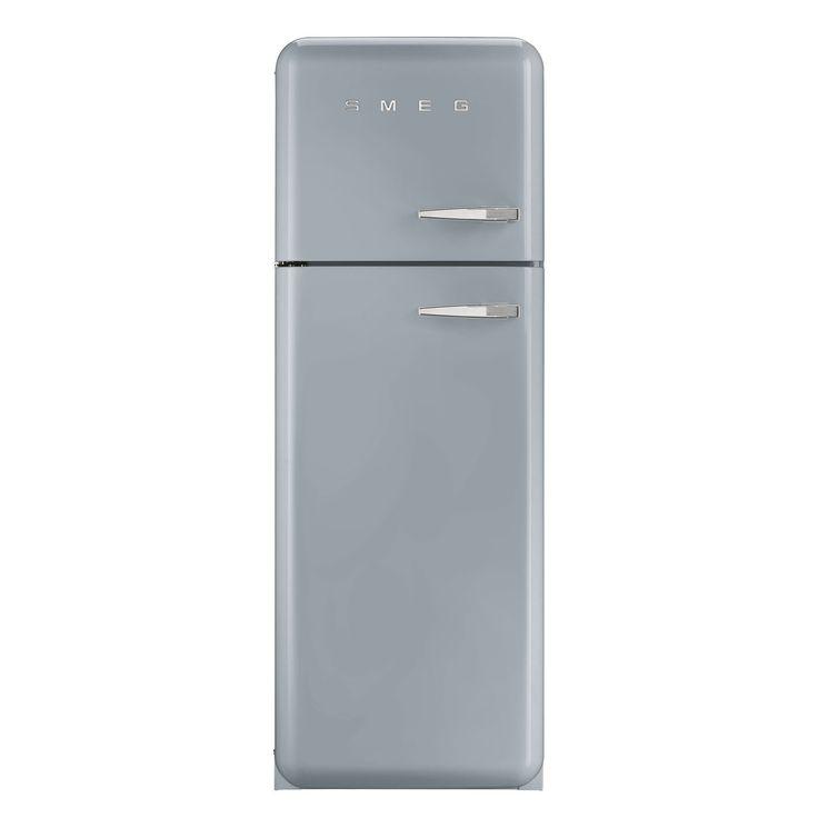 Smeg FAB30LFS 50's Retro Style Silver Fridge Freezer