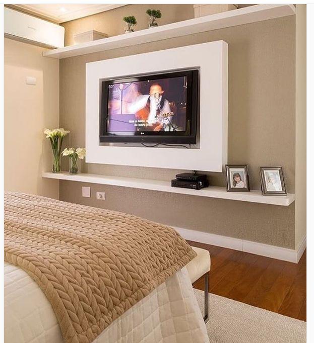 менее, становится оформление стены с телевизором в спальне фото готовые проекты
