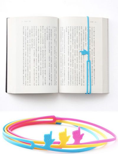 A Pointing Finger Bookmark ensures that you will pick up at the very word, nay the very letter, you left off. <3!