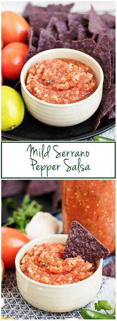 Our mild serrano pepper salsa is a unique take on the typical restaurant version and features fresh serrano peppers and a variety of savory spices. via @berlyskitchen