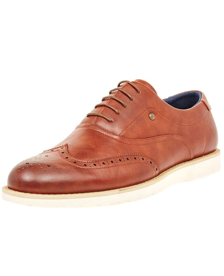 TS Heritage Mens Tan Brogue Detailing Lace up Shoe