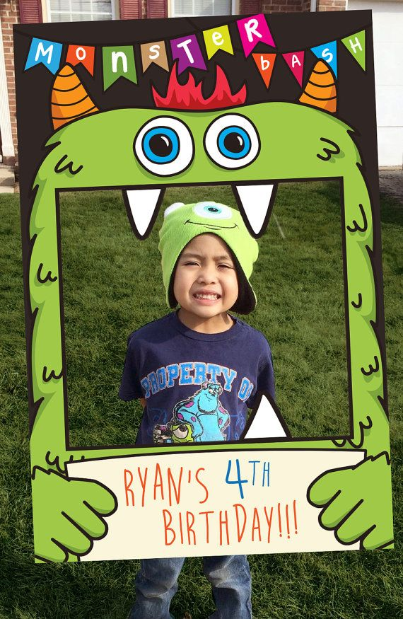 Monster Bash Party Prop Frame, Monster Theme Photo Booth. Birthday Theme for boys and girls. Great for Monster Birthday Parties.