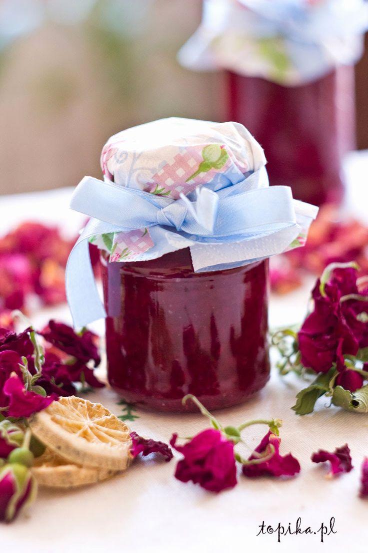 konfitury, przetwory, płatki róży, przetwory z róży, konfitury z płatków róży, przetwory z płatków róży, dżem z płatków róży,
