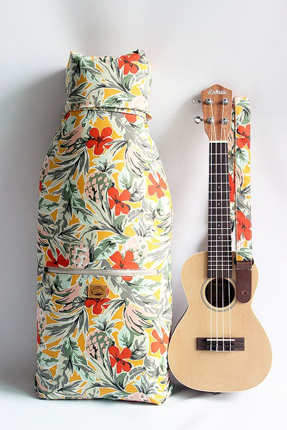 Ukulele case Concert & Soprano SizeJapanese fabric / by ukuhappy