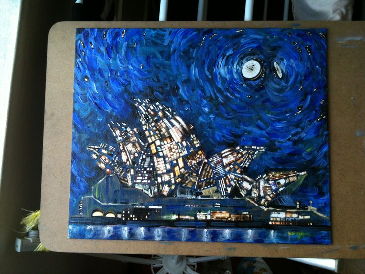 Sydney 2012.  picture & Acrylic Paints.  .by grida park