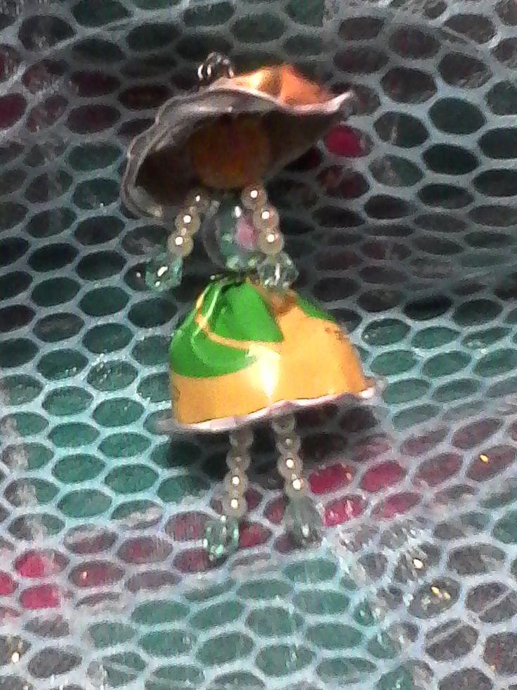 bambola ciondolo da cialde caffè