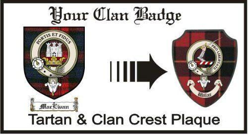 Macewan Clan Maclachlan Clan Badge Plaque . $29.99