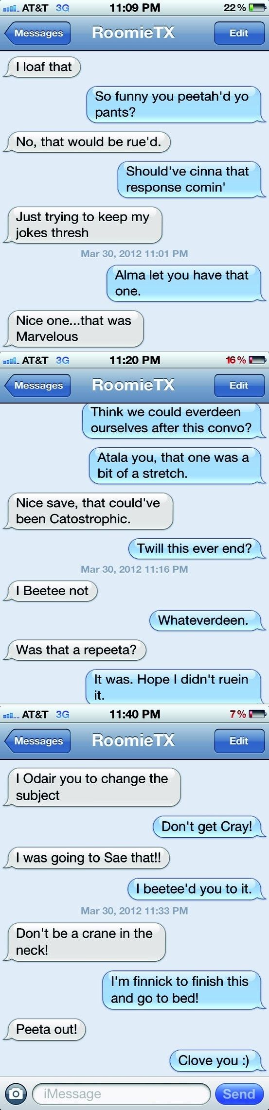 The Hunger Games text-off....IT'S ON!!!!!