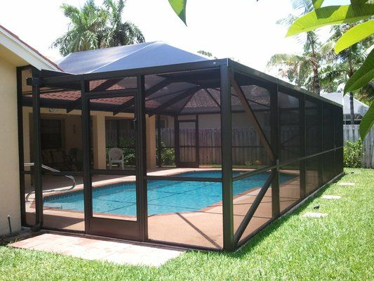 1000 ideas about screen enclosures on pinterest patio for Pool area designs