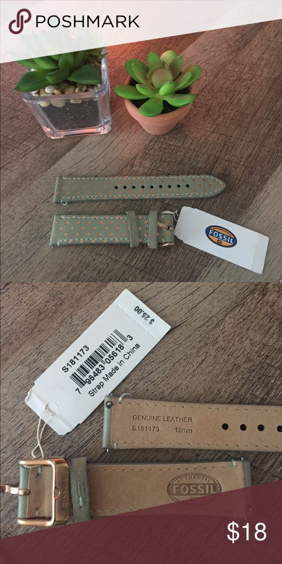 Fossil watch band Fossil watch band, 18mm, new with tags! Never worn! Fossil Accessories Watches