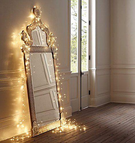 Starry string lights for christmas and mason jars