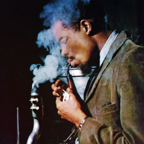 The brilliant Multi-Instumentalist Eric Dolphy in Europe 1961. The Bass Clarinet needs a lil' smoke break too!