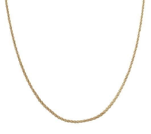 """20"""" Intricate Woven Rope Necklace 14K Gold 2.3g QVC #QVC #woven"""