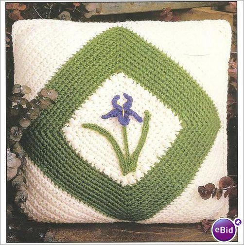 Crochet Patterns Nz : Crochet Pillow Pattern Iris Pillow on eBid New Zealand