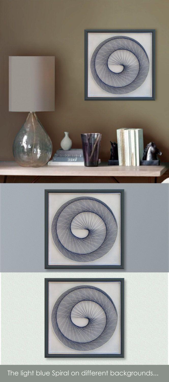 Home interiors and gifts framed art - Light Blue Pastel Zen Wall Art Abstract String Art Sacred Geometry Spititual Wall Art Golden Ratio Special Gift Idea Framed Art