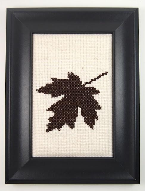 Maple leaf cross-stitch!