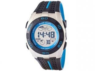 Relógio digital unissex Surf More, com estilo esportivo, pulseira de borracha, vem com alarme e iluminação noturna e ainda é resistente a água até 100 metros. Ideal para você que está sempre na moda e gosta de se aventurar!
