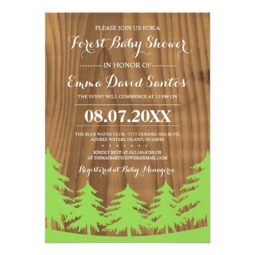 Forest Baby Shower Invites F You Are Having Your Event Outdoors Then Consider Embracing This