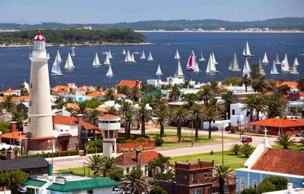 Punta del Este, Uruguay. Punta del Este is a city and resort on the Atlantic Coast in the Maldonado Department of southeastern Uruguay.