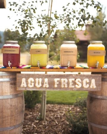 Drink stations are a great way to keep guests cool after your ceremony!