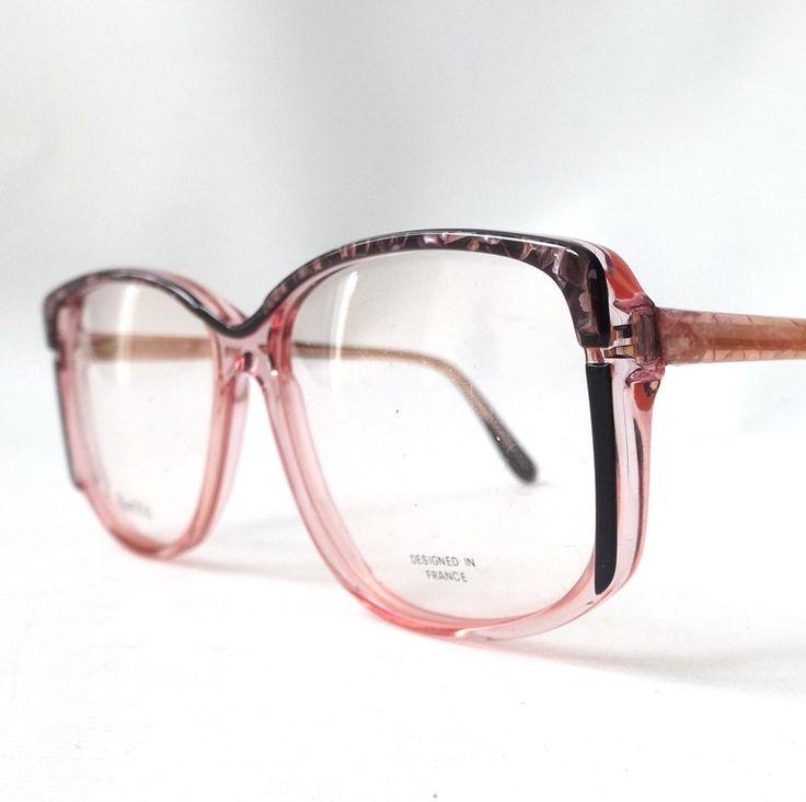 vintage 1980's NOS eyeglasses oversized grey marble black clear pink plastic frames prescription womens eyewear retro eye glasses modern new by RecycleBuyVintage on Etsy