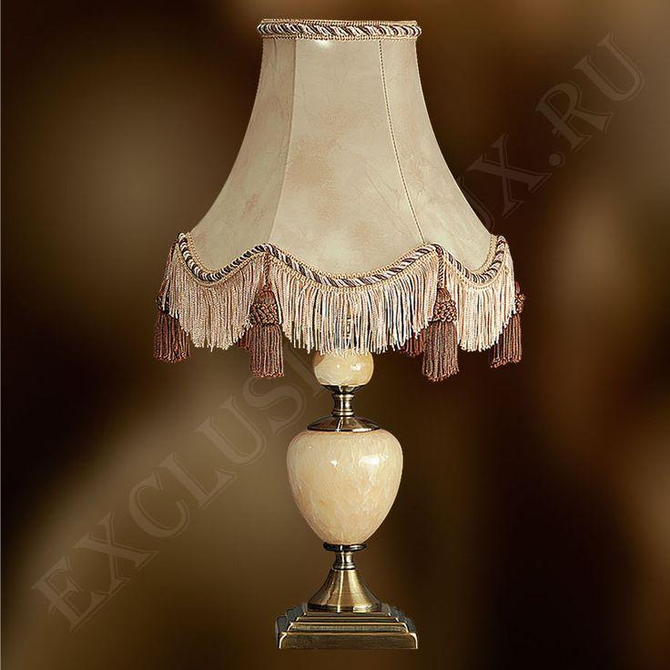 Настольная лампа 159ПК для гостиной с абажуром бежевого цвета купить недорого в интернет-магазине Exclusivalux
