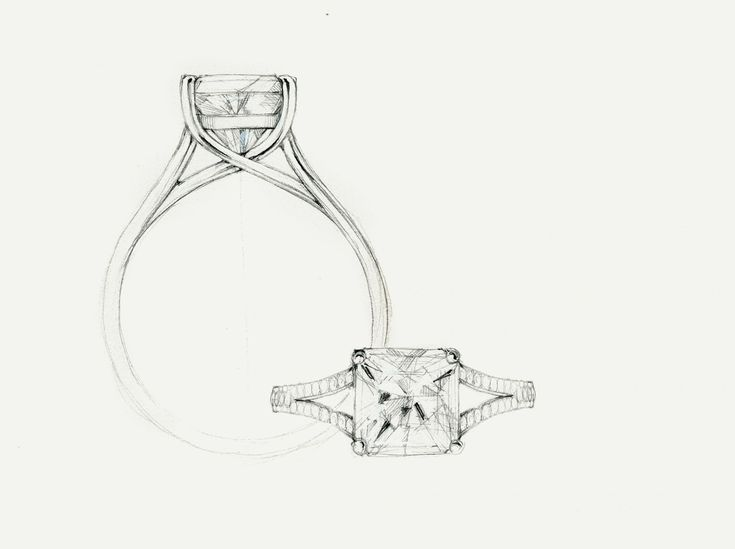 Tiffany & Co. - Lucida® with Diamond Band: An open curved diamond band…