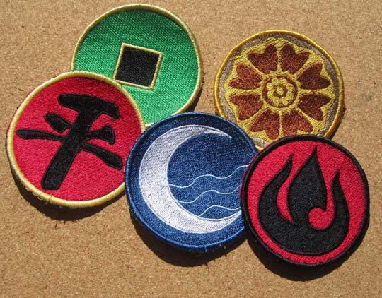 Avatar Emblems and Nations Choose  1 machine embroidered Iron on OR Sew on Patch on Etsy, $8.50