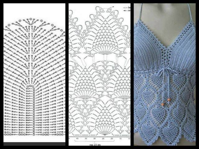 13 best tejidos crochet images on Pinterest | Crochet tops, Crochet ...