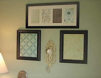Scrapbook paper wall art