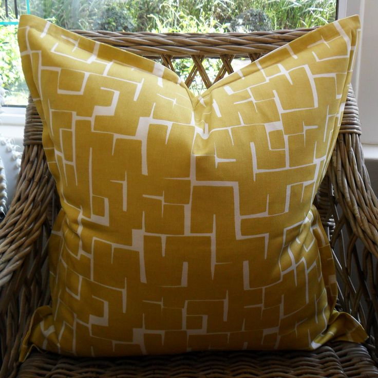 Chartreuse Squares - 60cm x 60cm - Inside Out Home Boutique - Available for order online at www.insideouthb.co.za