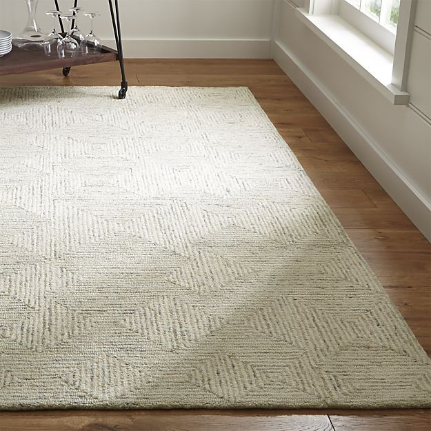 Presley Neutral Wool Rug | Crate and Barrel - 8'x10' - $999 - another idea for living room textural rug - RECOMMENDED ITEM