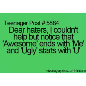 yep dont hate me cuz im better than you hehe