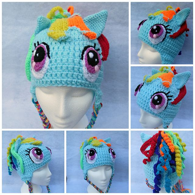My Little Pony-  Rainbow Dash crochet hat from Mistybelle Crochet