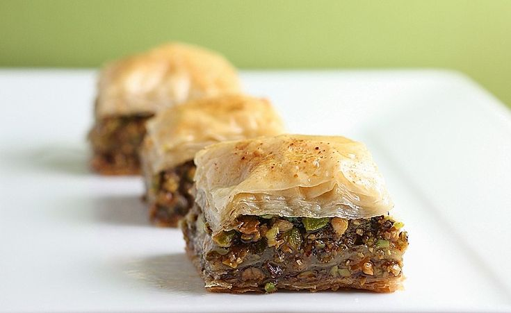 Pistachio Baklava with Cinnamon Honey Syrup by firstlookthencook #Baklava #Pistachio #firstcookthenlook: Middle Eastern Cookies, Syrup Recipe, Secret Treats, Cinnamon Honey Syrup, Middle Eastern Food, Luscious Honey, Sweet Tooth, Pistachios Diamond, Nom Nom