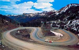 Million Dollar Hwy. between Silverton & Ouray Colorado. I was seriously overwhelmed on this drive. But it was beautiful!