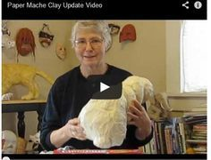 Home made paper mache clay.  She has a great recipe and is an outstanding artist!