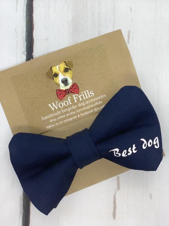 Best Dog Wedding Bow Tie In Navy Blue Colour This Bow Features A Navy Blue Cotton Twill And Is Finished With B Dog Wedding Bandana Dog Wedding Bow Tie Wedding
