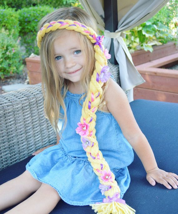 Rapunzel enredados disfraz trenza de pelo de Rapunzel para