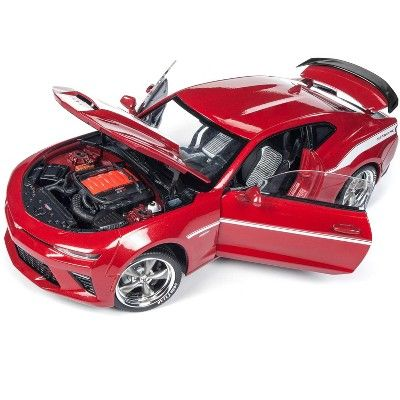 2017 Chevrolet Camaro Yenko Coupe Red with White Stripes Ltd Ed 1002 pcs 1/18 Diecast Model by Autoworld