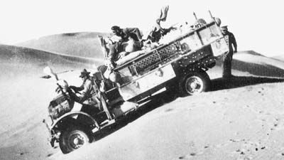 A patrol of the Long Range Desert Rangers WWII