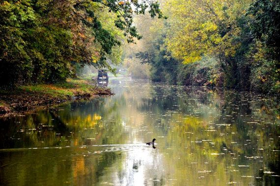 Tranquil Romantic Oxford Canal Print. Fine by JenWatsonPhotography, $12.00 This Print looks stunning framed!! Contact me for details :-))