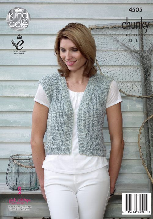 Knitting Pattern Ladies Gilet : 1000+ images about Authentic Chunky on Pinterest Sweater cardigan, Cardigan...