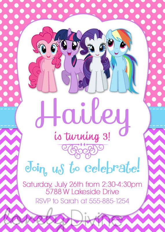 My Little Pony Invitation My Little Pony Invite by ...
