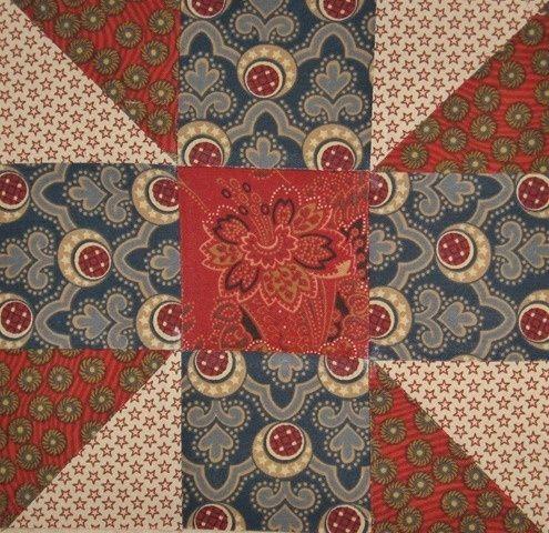4 COLORS - 3X3 SQUARES - civil war quilt block - Google Search, love the colors