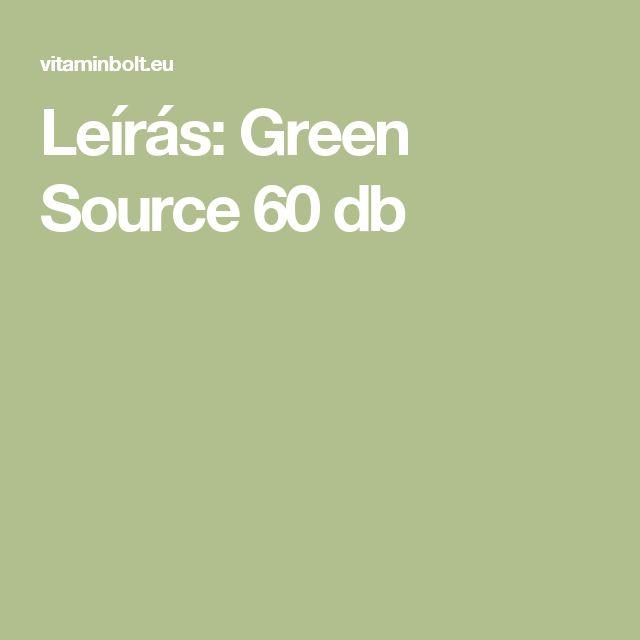Leírás: Green Source 60 db