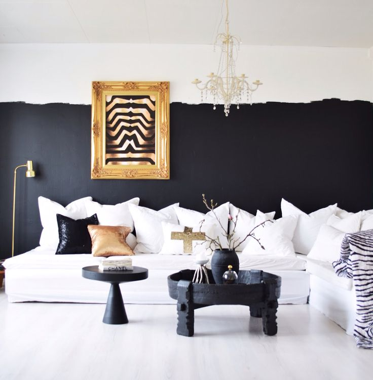 Black white half and half gold frame paradiscoproductions white couch diy homemade sofa My style Zebra Print black morroccan painted table